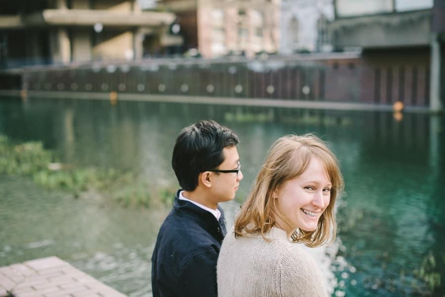Jo & Joe's engagement shoot around the Barbican