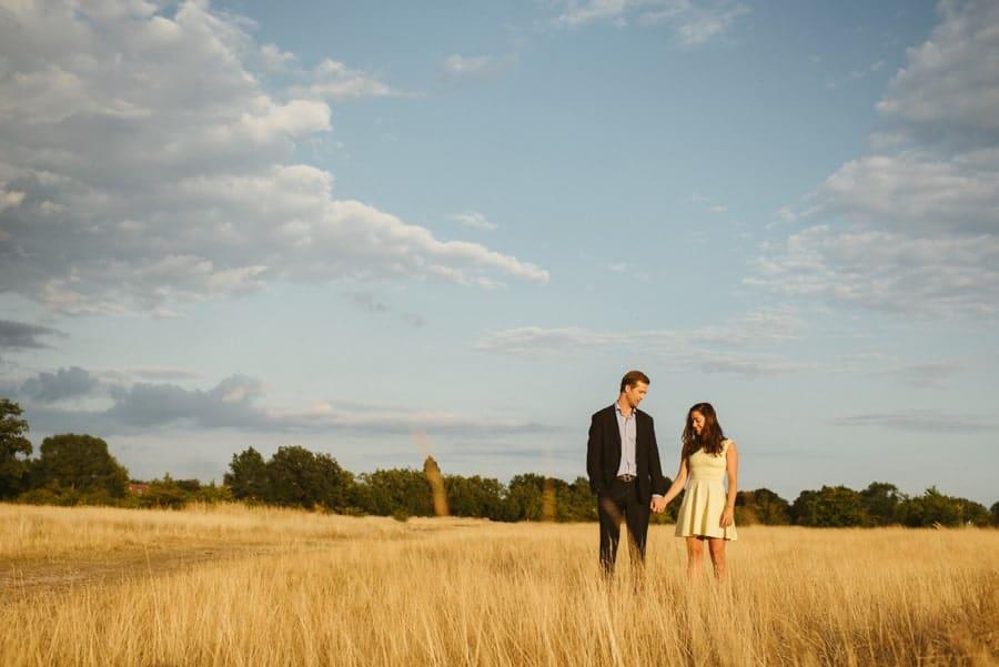 Joanna & Trent's engagement photos near their house