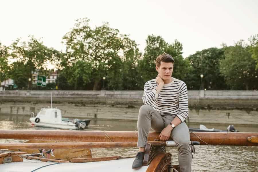 Lyndsey & Edward engagement shoots at Cadogan Pier London-3