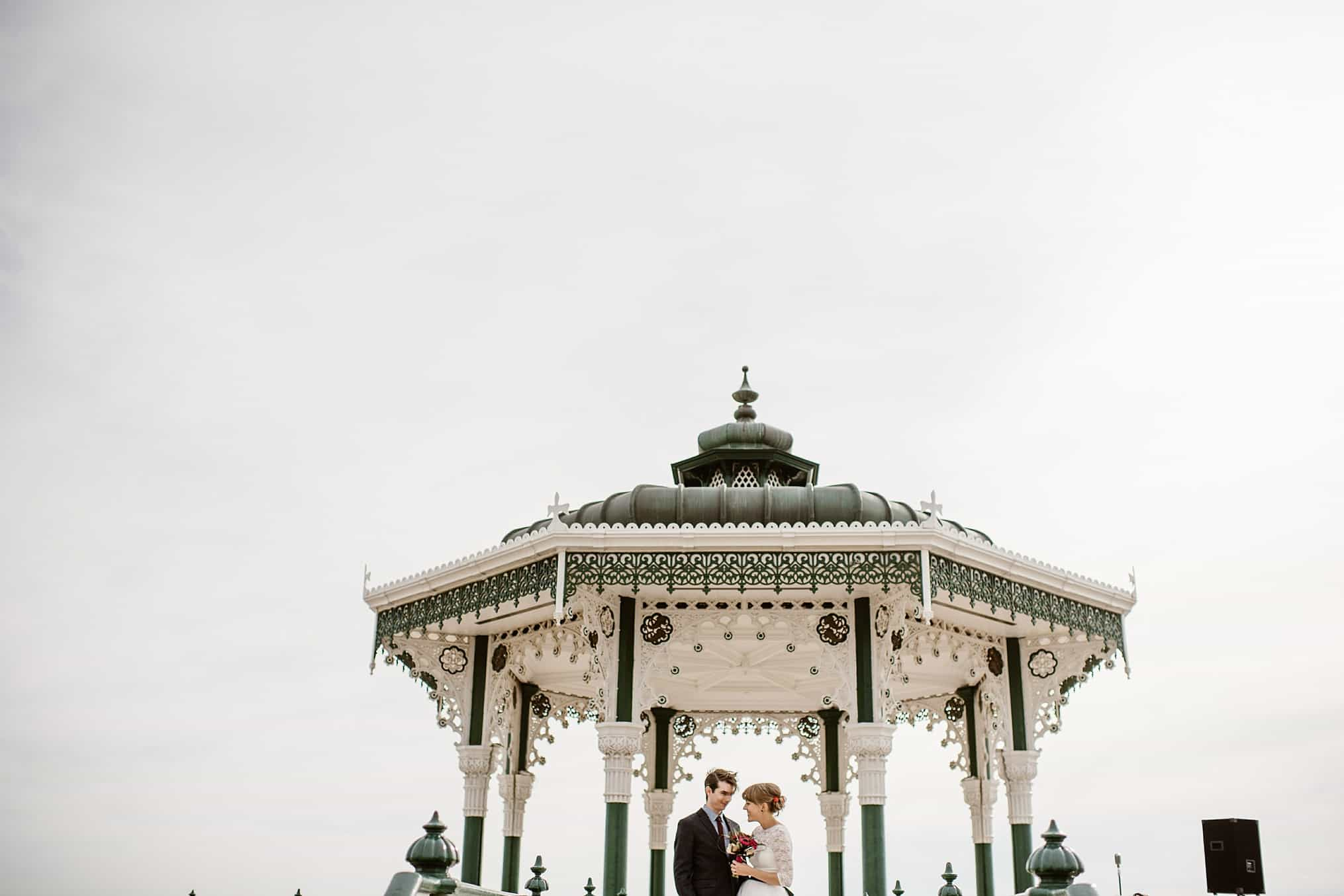 Brighton bandstand wedding photography