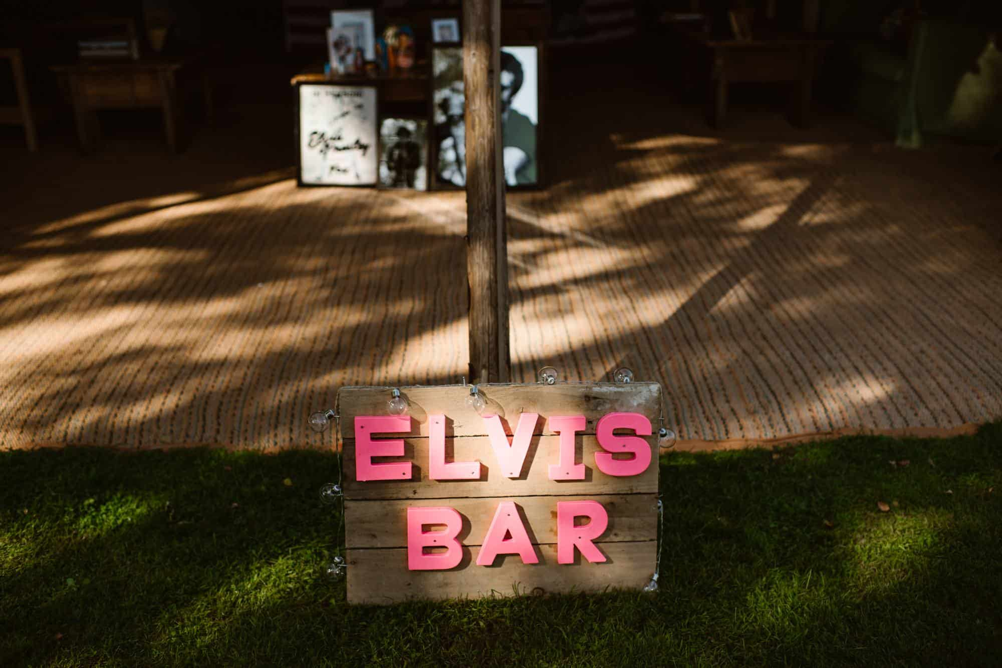 elvis bar at wedding