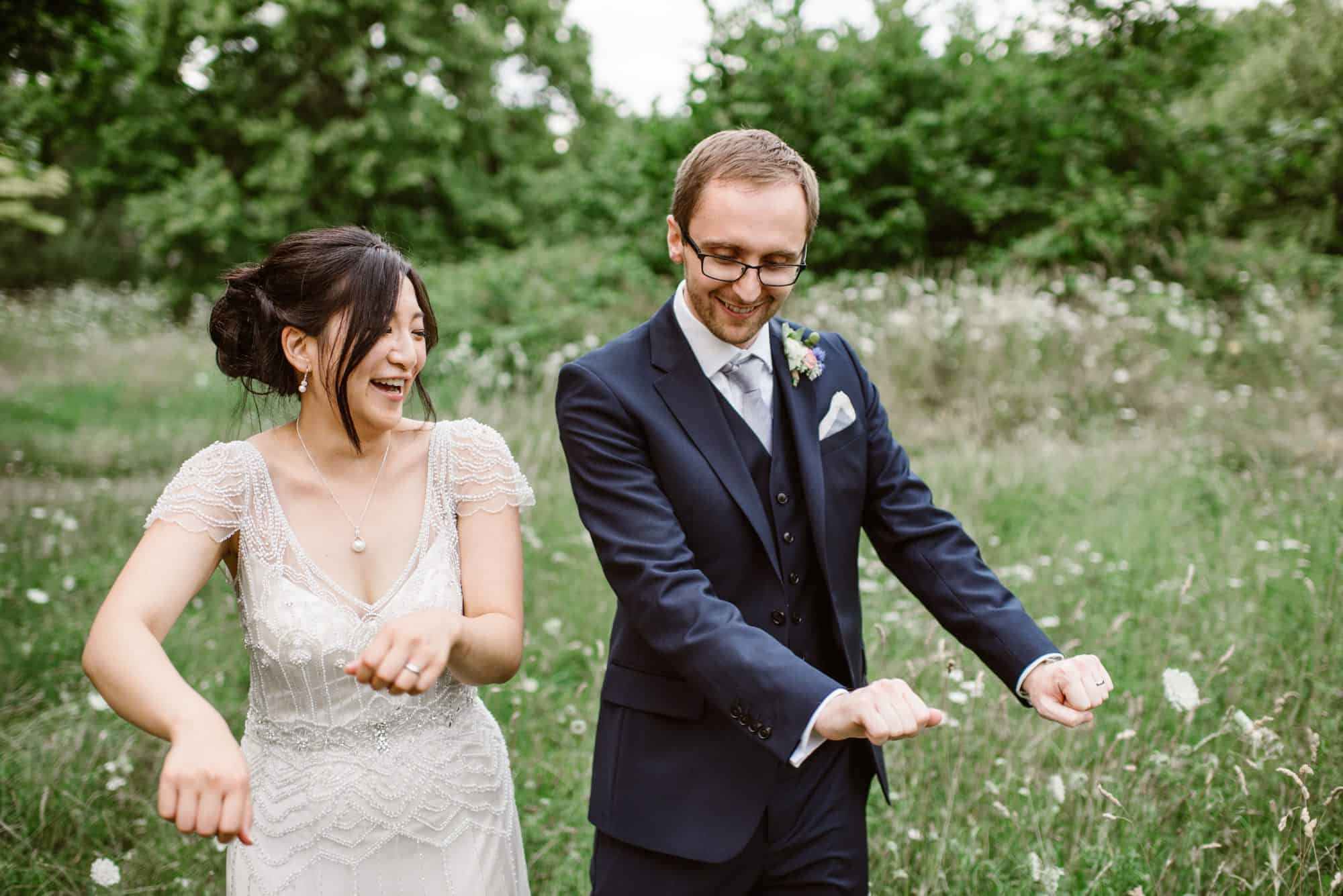 Mile End ecology pavillion wedding photography couple dancing