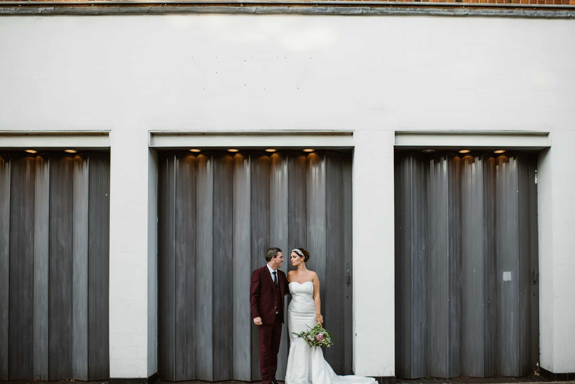 Sunbeam Studios Wedding Portrait with couple