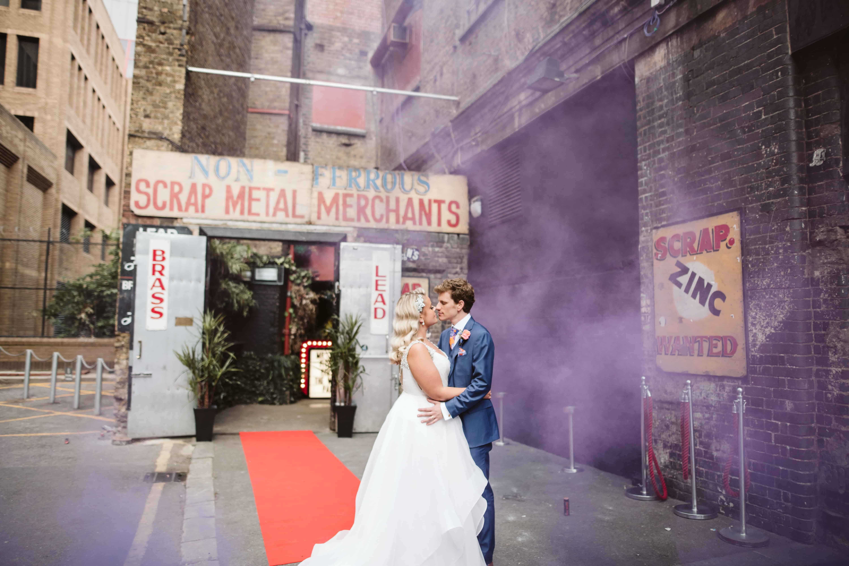 smoke bomb wedding photography london