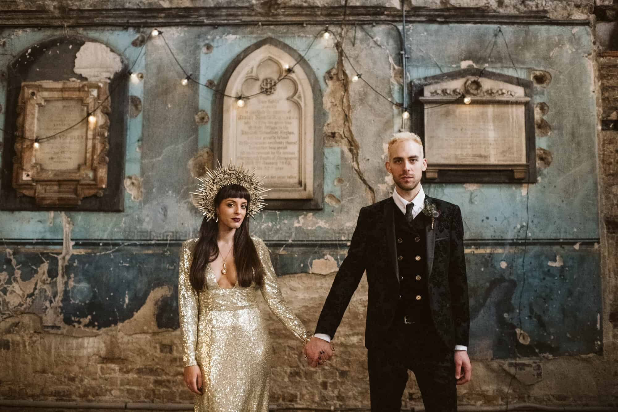 Alternative wedding photography london
